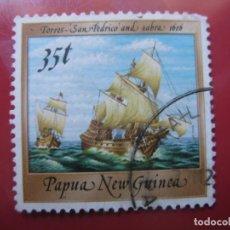 Sellos: +PAPUA NUEVA GUINEA, 1987, BARCOS HISTORICOS, YVERT 539. Lote 222871102
