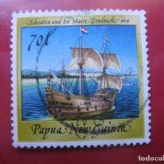 Sellos: +PAPUA NUEVA GUINEA, 1987, BARCOS HISTORICOS, YVERT 541. Lote 222871308