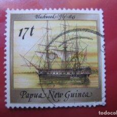 Sellos: +PAPUA NUEVA GUINEA, 1988, BARCOS HISTORICOS, YVERT 560. Lote 222872622