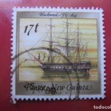 Sellos: +PAPUA NUEVA GUINEA, 1988, BARCOS HISTORICOS, YVERT 560. Lote 222872726