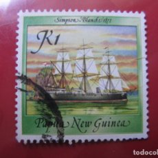 Sellos: +PAPUA NUEVA GUINEA, 1988,BARCOS HISTORICOS, YVERT 561. Lote 222873066