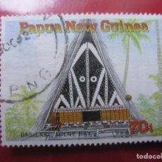Sellos: +PAPUA NUEVA GUINEA, 1989, VIVIENDAS TRADICIONALES, YVERT 590. Lote 222874512