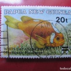 Sellos: +PAPUA NUEVA GUINEA, 1989, SELLO SOBRECARGADO YVERT 596. Lote 222874761