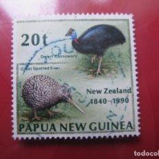 Sellos: +PAPUA NUEVA GUINEA, 1990, 150 ANIV. TRATADO DE WAITANGI, YVERT 615. Lote 222875851