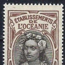 Timbres: OCEANÍA FRANCESA 1913-15 - TEMAS LOCALES, MUJER NATIVA - MNH**. Lote 224513565