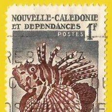 Sellos: NUEVA CALEDONIA. 1958. PECES EXOTICOS. BRACHYRUS ZEBRA. Lote 228093280