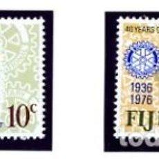 Sellos: FIJI - 1976 - SERIE COMPLETA NUEVA - 40 AÑOS DE ROTARY EN FIJI - YVERT 345/46. Lote 231246350