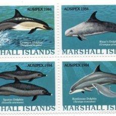 Sellos: ISLAS MARSHALL - EXP. FILATELICA INTERNACIONAL MELBOURNE - AUSIPEX 84 - DELFINES / AUSTRALIA - HB. Lote 236253910