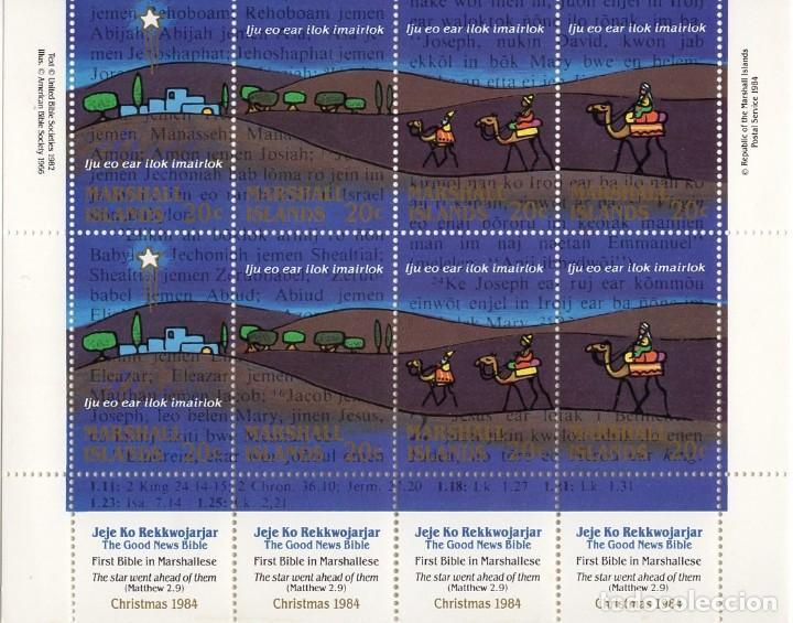 ISLAS MARSHALL - CHRISTMAS / NAVIDAD - AÑO 1984 - MEDIA HB DE 8 SELLOS - NUEVA (Sellos - Extranjero - Oceanía - Otros paises)