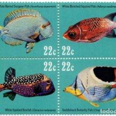 Sellos: ISLAS MARSHALL - PECES / FAUNA MARINA - AÑO 1985 - 1 HB DE 4 SELLOS - NUEVA Y PERFECTA. Lote 236255600