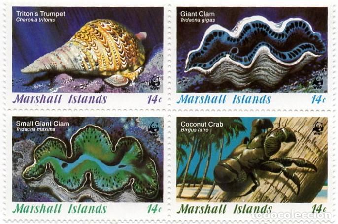 ISLAS MARSHALL - FONDO MUNDIAL PARA LA PROTECCION DE LA NATURALEZA. WWF - VIDA MARINA - AÑO 1986 HB (Sellos - Extranjero - Oceanía - Otros paises)