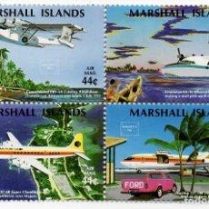 Sellos: ISLAS MARSHALL - C. AEREO - EXP. FILATELICA INTERNACIONAL / MAPAS DE LAS ISLAS - AMERIPEX 1986 - HB. Lote 236262390