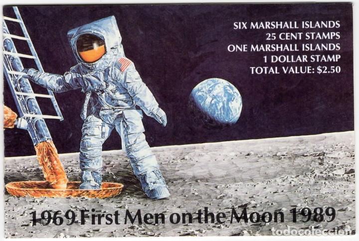 ISLAS MARSHALL - 20 ANIVERSARIO DE LA LLEGADA DEL HOMBRE A LA LUNA - AÑO 1989 - 1 CARNET S.C. NUEVO (Sellos - Extranjero - Oceanía - Otros paises)
