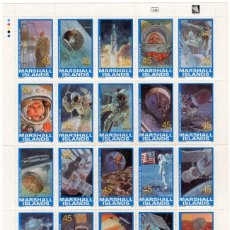 Sellos: ISLAS MARSHALL - HISTORIA DE LA INVESTIGACION ESPACIAL - AÑO 1989 - 1 HB NUEVA Y PERFECTA. Lote 236367940