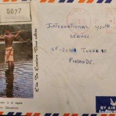 Sellos: O) 1975 NUEVA CALEDONIA, SELLO DE METRO, FOTO ILE DE LUMIERE. PAISAJE, A FINLANDIA. Lote 236451155