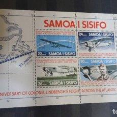Sellos: BLOC SAMOA Y SISIFO, 1977, AVIONES, VER FOTOS. Lote 240766855