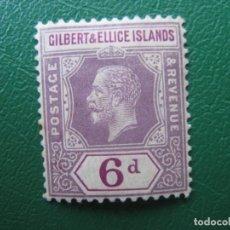 Sellos: *GILBERT & ELLICE, JORGE V,YVERT 19. Lote 243891395