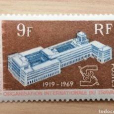 Sellos: WALLIS ET FUTUNA. 1969. YVERT 175. 50° ANIVERSARIO DE LA ORGANIZACIÓN INTERNACIONAL DE TRABAJO. Lote 244499560