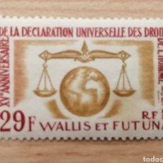 Sellos: WALLIS ET FUTUNA. 1963. YVERT 183. 15 ° ANIVERSARIO UNIVERSAL DE LA DECLARACIÓN DE LOS DERECHOS HUMA. Lote 244503265