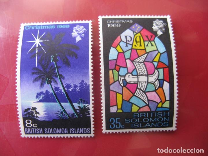 ISLAS SALOMON, 1969, NAVIDAD, YVERT 183/4 (Sellos - Extranjero - Oceanía - Otros paises)