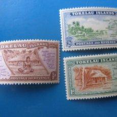Sellos: +ISLAS TOKELAU, 1948, MAPAS Y VISTAS DE LAS ISLAS, YVERT 1/3. Lote 244726625
