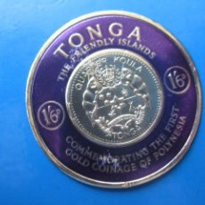 Sellos: +TONGA, 1963, MONEDAS DE ORO, YVERT 132. Lote 244728635