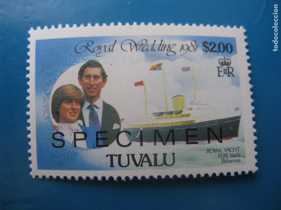 +TUVALU, 1981, ENLACE DEL PRINCIPE CARLOS Y DIANA, YVERT 159 (Sellos - Extranjero - Oceanía - Otros paises)