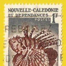 Sellos: NUEVA CALEDONIA. 1958. PECES EXOTICOS. BRACHYRUS ZEBRA. Lote 244956295
