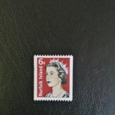 Sellos: ISLAS NORFOLK 1971. ISABEL II. SELLO EMITIDO EN BOBINAS DE 1000 PARA MÁQUINAS AUTOMÁTICAS.. Lote 246479070