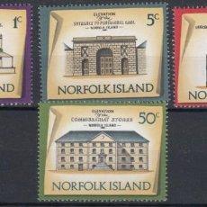 Sellos: NORFOLK 1973 IVERT 135/8 *** SERIE BÁSICA - EDIFICIOS HISTÓRICOS - MONUMENTOS. Lote 253258800