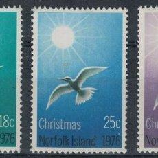 Sellos: NORFOLK 1976 IVERT 177/9 *** NAVIDAD. Lote 253276225