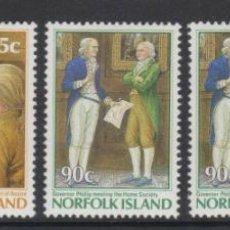 Sellos: NORFOLK 1986 IVERT 388/92 *** 2º CENTENARIO DE LA COLONIZACIÓN DE LA ISLA. Lote 253276985