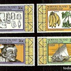 Sellos: NORFOLK 1986 IVERT 393/6 *** 2º CENTENARIO DE LA COLONIZACIÓN DE LA ISLA (II) - LA VIDA ANTERIOR. Lote 253277240