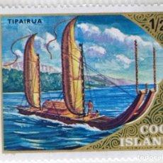 Sellos: SELLO DE ISLAS COOK 1/2 C - 1973 - BARCOS DE VELA - NUEVO SIN SEÑAL DE FIJASELLOS. Lote 257409755