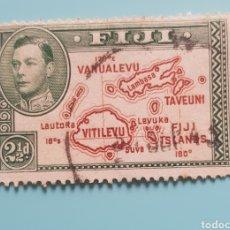 Sellos: FIJI 1938-49 JORGE VI Y MAPA DE LAS ISLAS . USADO.. Lote 257444240