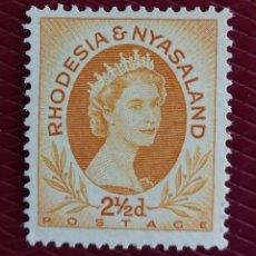 Sellos: RHODESIA, AÑO 1954 MH* ELISABETH II (FOTOGRAFÍA REAL). Lote 257601735