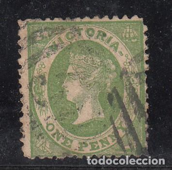 VICTORIA COLONIA BRITÁNICA .23 FALTA DIENTE USADA, (Sellos - Extranjero - Oceanía - Otros paises)