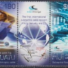Sellos: ⚡ DISCOUNT FIJI 2014 UNDER WATER CABLE - JOINT ISSUE WITH VANUATU MNH - COMMUNICATION, TELEC. Lote 261240005