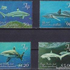 Sellos: ⚡ DISCOUNT FIJI 2014 SHARKS OF FIJI MNH - FISH, SHARKS. Lote 261240020