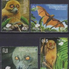 Sellos: ⚡ DISCOUNT FIJI 2015 ENDANGERED WILDLIFE - FLYING FOX MNH - THE BATS. Lote 261240115
