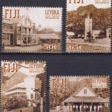 Sellos: ⚡ DISCOUNT FIJI 2015 UNESCO WORLD HERITAGE SITES - LEVUKA MNH - ARCHITECTURE, UNESCO. Lote 261240135