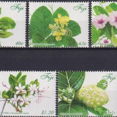 Sellos: ⚡ DISCOUNT FIJI 2015 PLANTS WITH REMEDIES IN FIJI MNH - FLORA, FLOWERS, MEDICINAL PLANTS. Lote 261240170