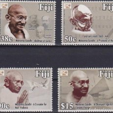 Sellos: ⚡ DISCOUNT FIJI 2018 THE 150TH ANNIVERSARY OF THE BIRTH OF MAHATMA GANDHI MNH - CELEBRITIES. Lote 261240465