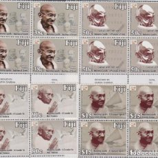 Sellos: ⚡ DISCOUNT FIJI 2018 THE 150TH ANNIVERSARY OF THE BIRTH OF MAHATMA GANDHI MNH - CELEBRITIES. Lote 261240475
