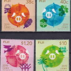 Sellos: ⚡ DISCOUNT FIJI 2019 CHINESE NEW YEAR - YEAR OF THE PIG MNH - NEW YEAR. Lote 261240480