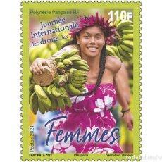 Sellos: FRENCH POLYNESIA 2021 - JOURNÉE INTERNATIONALE DES DROITS DES FEMMES. Lote 263580335