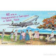 Sellos: FRENCH POLYNESIA 2021 - 60 ANS DE L'INAUGURATION DE L'AÉROPORT DE TAHITI FAA'A. Lote 263580665