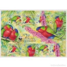 Sellos: ⚡ DISCOUNT FIJI 2012 WORLD WILDLIFE FUND - BIRDS MNH - PARROTS. Lote 270388133