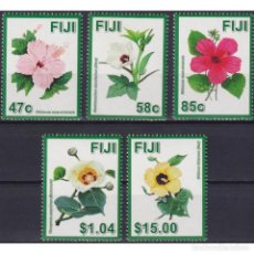 Sellos: ⚡ DISCOUNT FIJI 2016 HIBISCUS FLOWERS - A SYMBOL OF DIVERSITY IN FIJI MNH - FLOWERS. Lote 270388263