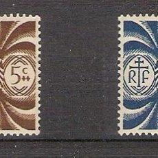 Sellos: NUEVA CALEDONIA 1942 - YVERT 230/31 *. Lote 276800328
